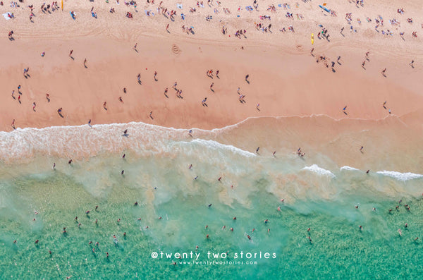Bondi Beach Aerial Helicopter Photography