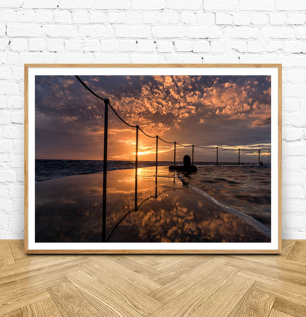 Framed Bronte Sunrise Wall Print