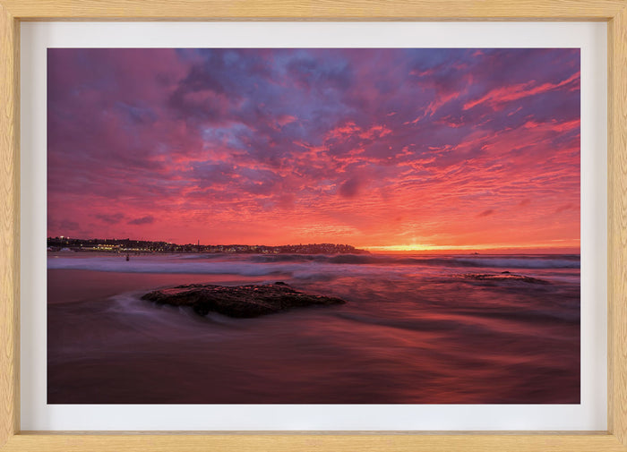 pink bondi beach sunrise