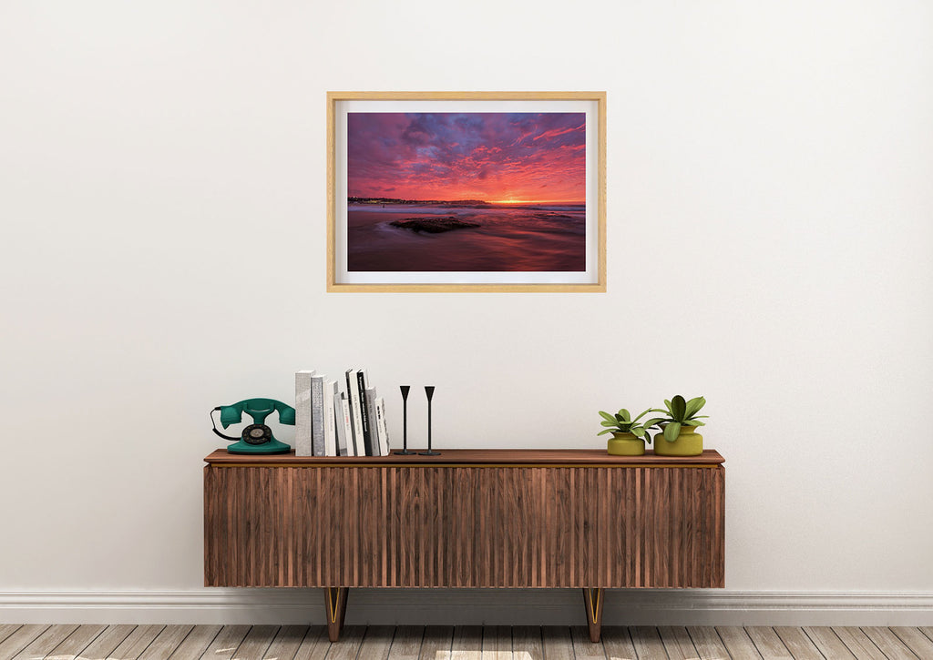 bondi beach sunrise print