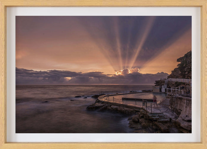 Bronte Pool Sunrise Wall Print