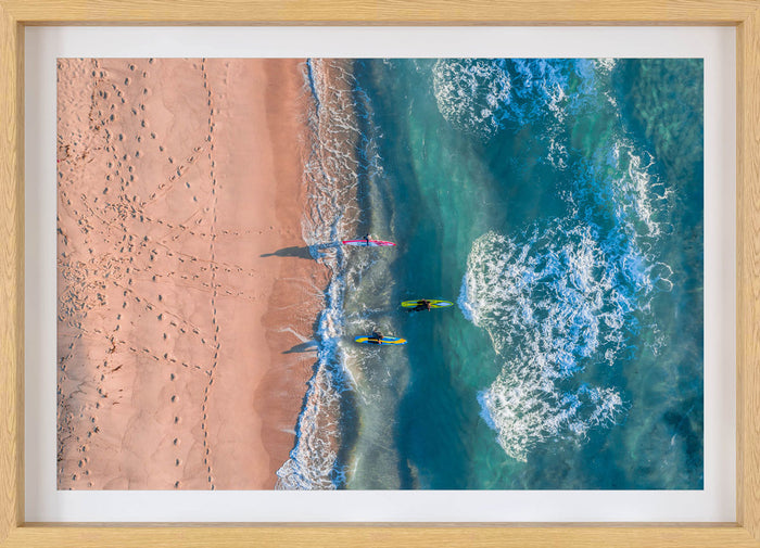 Aerial Ocean Photography Print