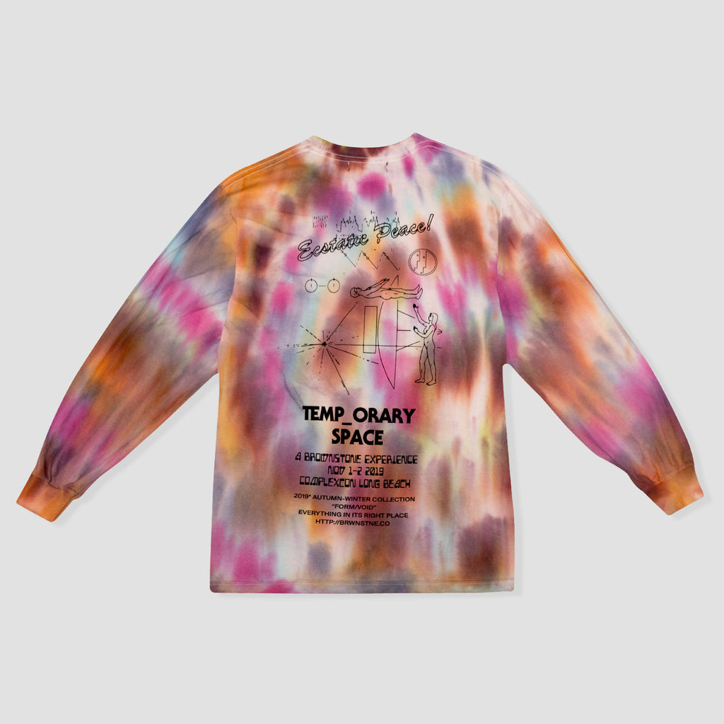 Ecstatic Peace! Tie Dye Long Sleeve Tee