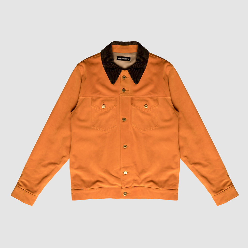 Suede Trucker Jacket - Apricot