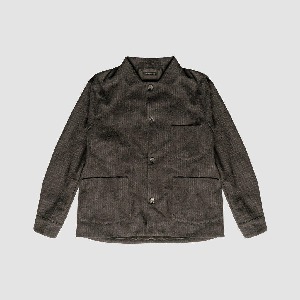 Striped Wool Jacket - Black