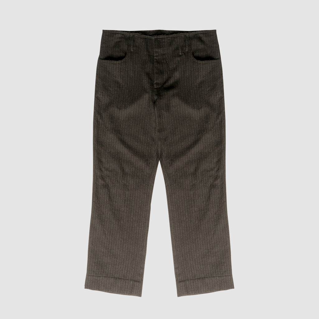 Striped Wool Pant - Black
