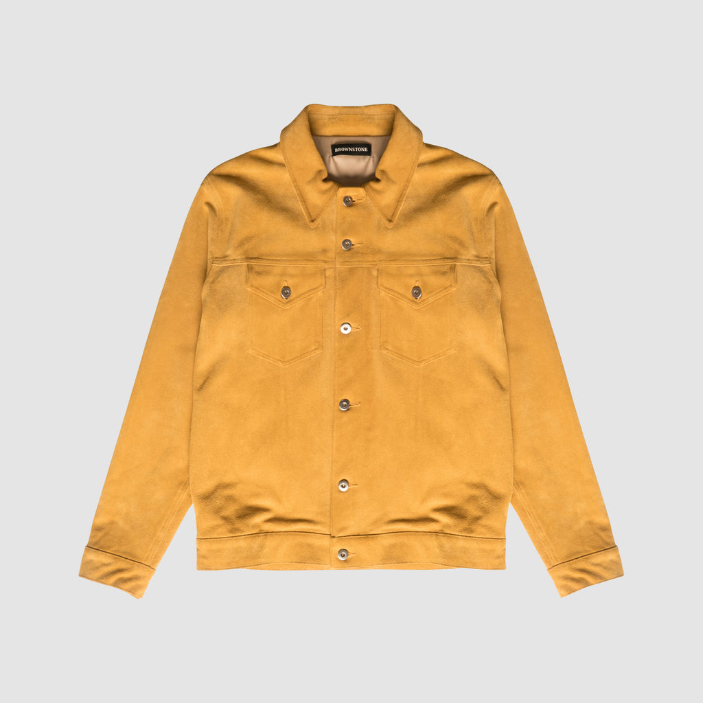Suede Trucker Jacket - Honey