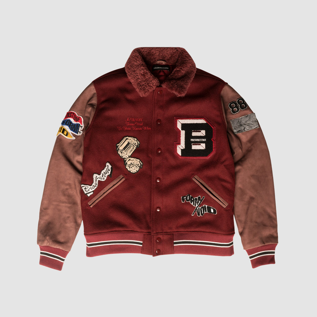 Melton Wool & Leather Varsity Jacket