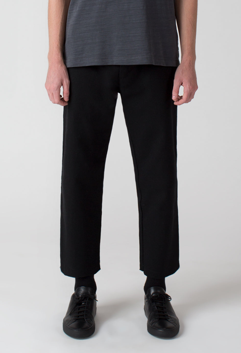 Crop Trouser - Jet Black