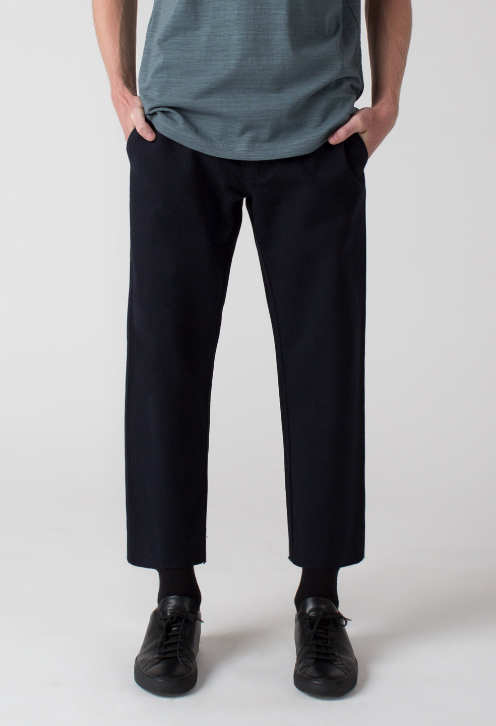 Crop Trouser - Midnight Navy
