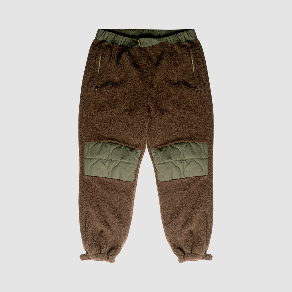 Sherpa Pants With Onion Quilted Patches