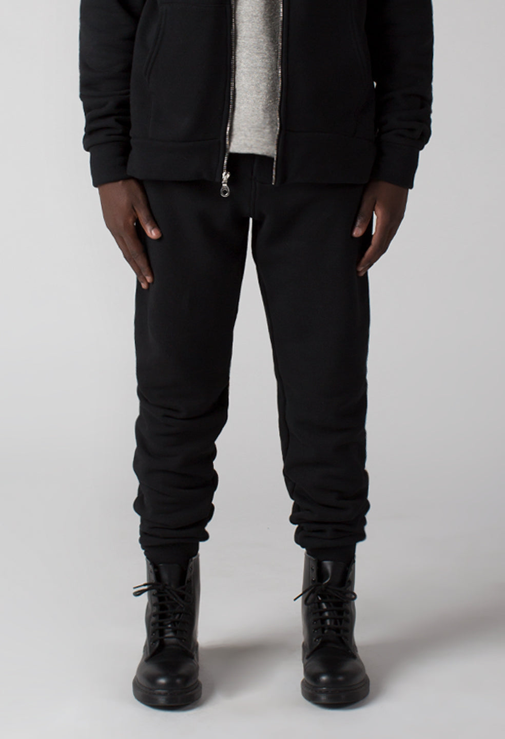 French Terry Pant - Jet Black
