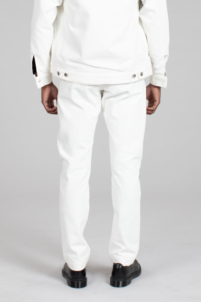Double Knee Pant - White