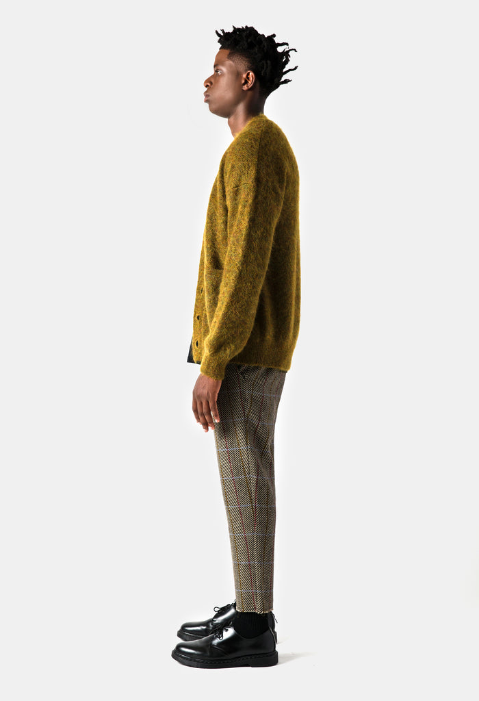 Patch Pocket Mohair Cardigan - Algae