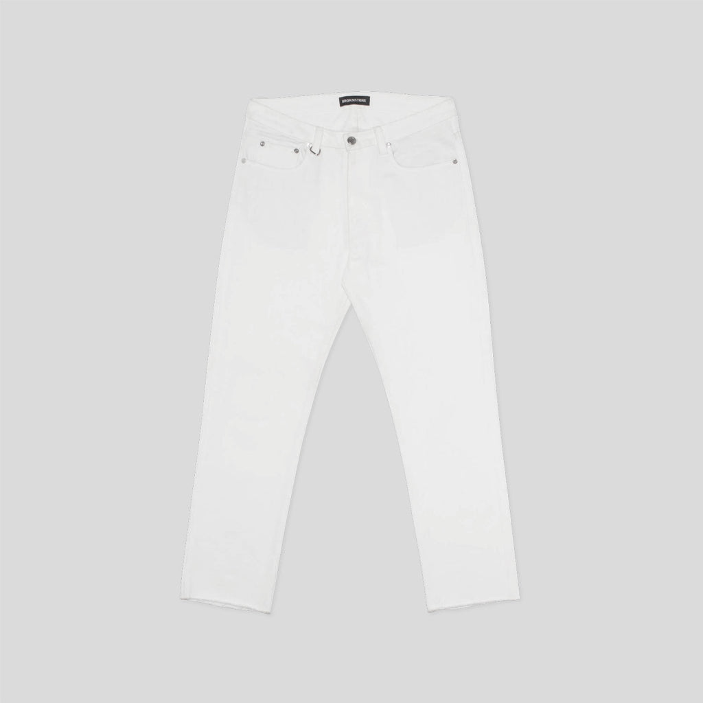 5Pkt Cropped Pant - White