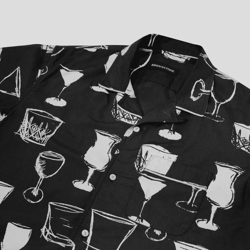 Club Collar Shirt - Black