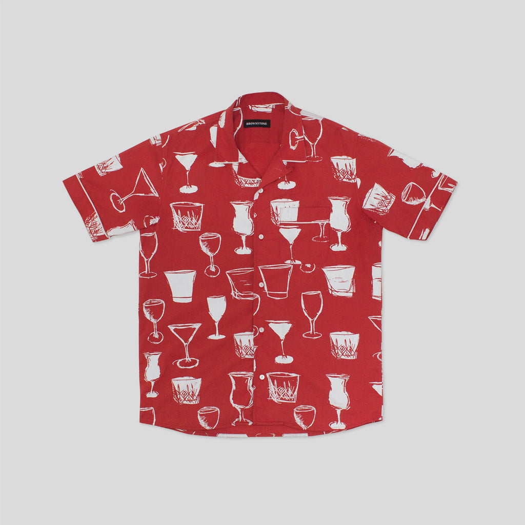 Club Collar Shirt - Red