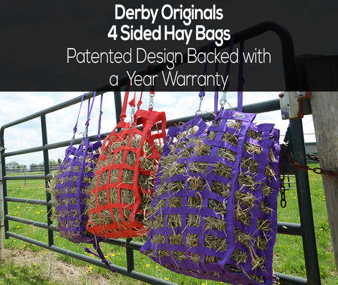 Derby Originals 4 Sided Slow Feed Hay Bags
