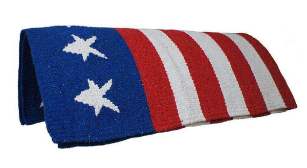 "Tahoe Patriotic Acrylic Saddle Blanket 32"" x 64"" - Tack Wholesale"