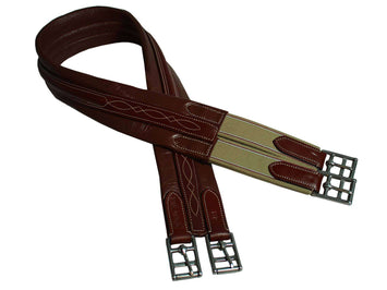 Paris Tack English Chafeless Girth Raised Fancy Stitched - Tack Wholesale