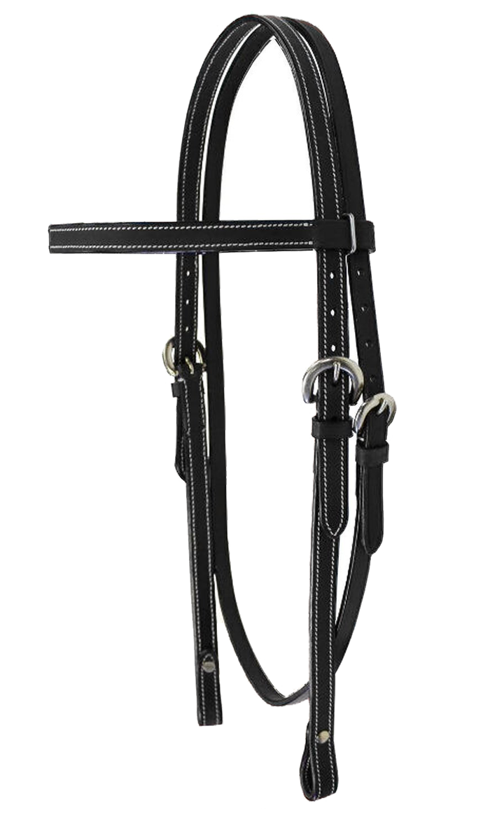 Tahoe Tack Plain Double Layer Nylon Headstall with Reins Multiple Colors /& Sizes Available