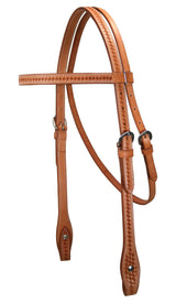Tahoe Basket Weave Browband Headstall USA Leather