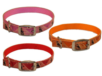 CuteNfuzzy Hand Painted Leather Overlay Dog Collars 14