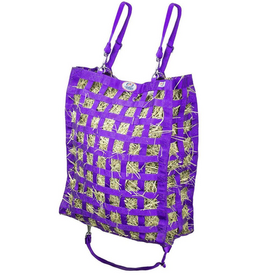 Purple four sided hay bag.