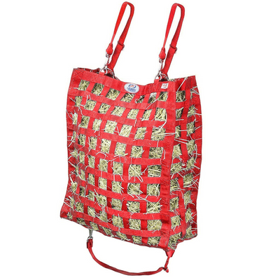 Red four sided hay bag.
