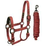 Derby Originals Desert Rose Collection Blackout Reflective Safety Stable Horse Halters with Matching Lead Ropes