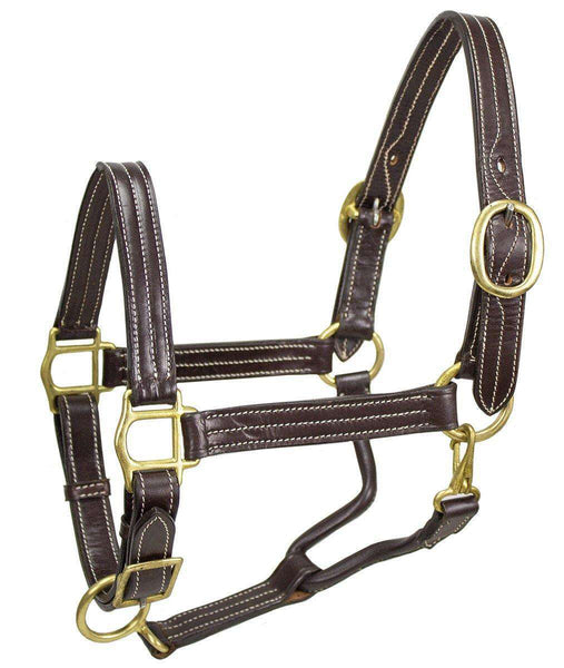 Derby Originals American Elegance Series Triple Stitch Adjustable Leather Halter - USA Leather - Tack Wholesale