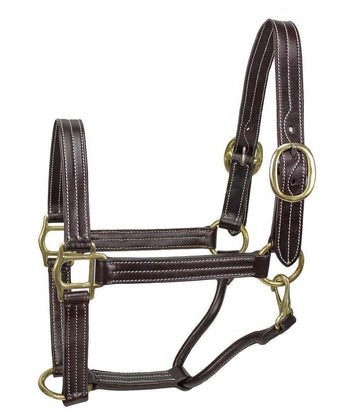 Derby Originals American Elegance Series Triple Stitch Leather Halter - USA Leather - Tack Wholesale
