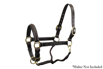 Derby Originals Double Stitched Leather Breakaway Halter Replacement Crown Available in 2 Lengths