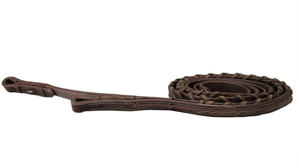 Premium Plain Raised Laced Reins for English Bridles