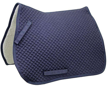 Derby Originals Dressage Diamond Quilted Saddle Pad With Full Fleece Lining - Tack Wholesale