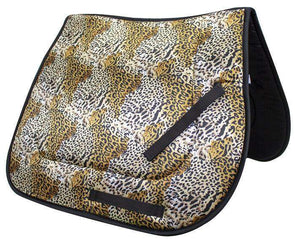 Derby Originals All Purpose Leopard Print English Saddle Pad Closeout Sale - Tack Wholesale
