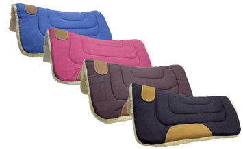 Mini Canvas Contour Cut Western Saddle Pads by Tahoe Tack - Size 19