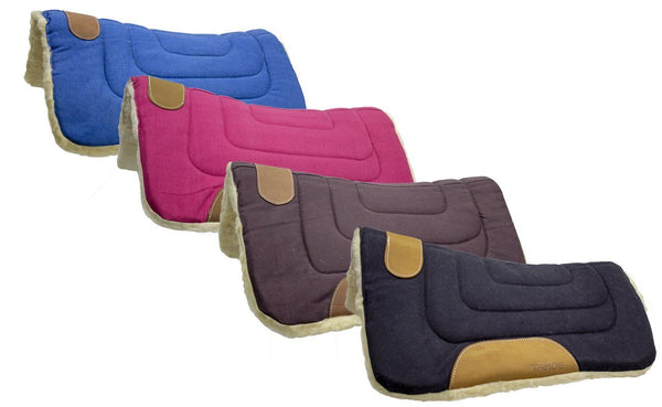 Pony Canvas Contour Cut Western Saddle Pads by Tahoe Tack - Size 23