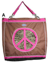Derby Reflective Top Load Hay Bags with Peace Sign Opening - Tack Wholesale