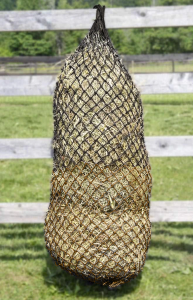 "Derby Originals 90"" Superior Slow Feed Soft Mesh Hanging Hay Net for Horses"