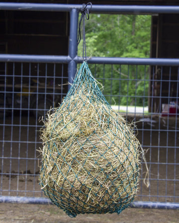 "Derby Originals 48"" Eager Feeder Slow Feed Hanging Hay Net for Horses"