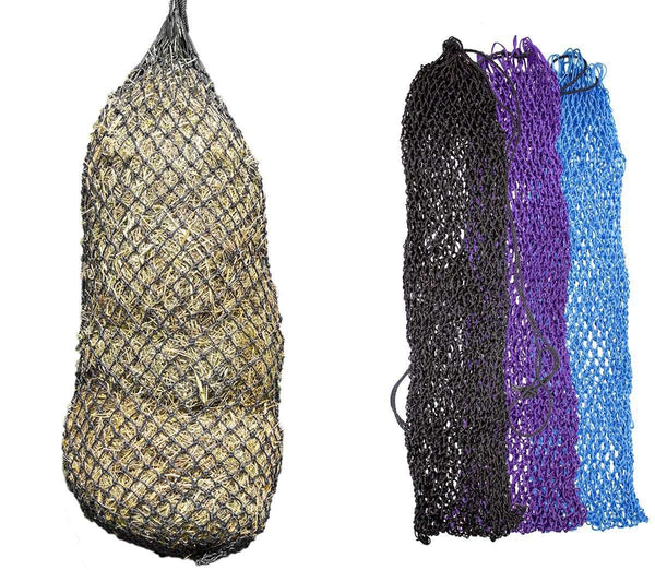 "Derby Originals 56"" XL Super Slow Feed Poly Rope Hanging Full Bale Hay Net with 1x1"" Holes"