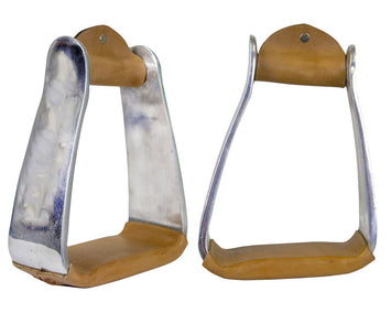 Tahoe Tack Angled Knee Relief Heavyweight Adult Western Stirrups