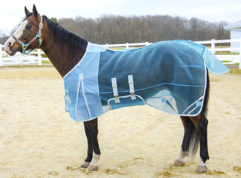 Derby Originals Mesh Belly Band Reflective Trim Horse Fly Sheet - Tack Wholesale