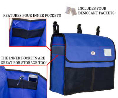 Derby Originals Premium Horse Blanket Storage Bag with Mesh Pockets - Includes Four Desiccant Pouches to Keep Blankets Fresh