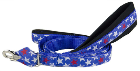 "CuteNfuzzy Padded Double Handle Overlay Dog Leash Warranted Snap 1"" X 4' - Tack Wholesale"