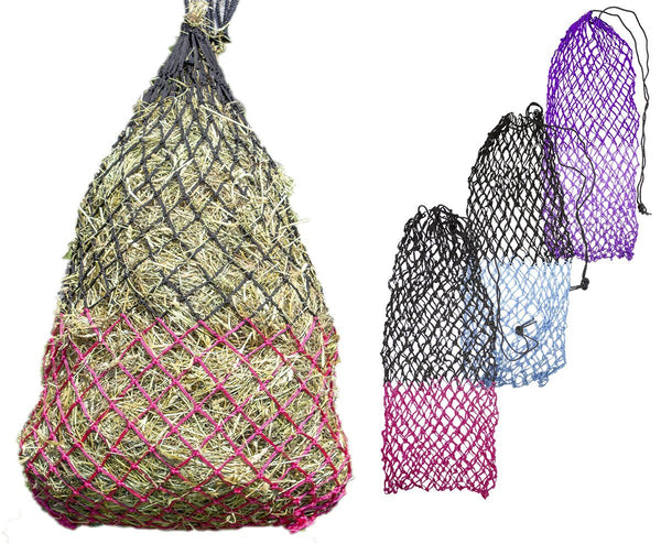 "Derby Originals Cozi Mesh 56"" XL Slow Feed Soft Mesh Poly Rope Hanging Hay Net with 2"" Square Openings"