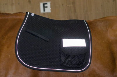 Derby Originals Safety Reflective All Purpose English Saddle Pad with Pockets