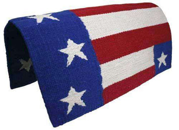 100% Wool American Flag Western Saddle Blanket 34