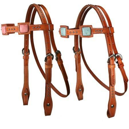 Tahoe Born to Run Ostrich Print Browband Headstall Mini USA Leather